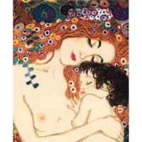 """RIOLIS Counted Cross Stitch Kit 11.75""""X13.75""""-Motherly Love/G.Klimt's (14 Count)"""
