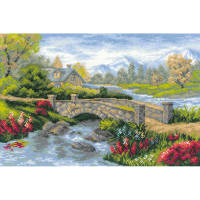 "RIOLIS Counted Cross Stitch Kit 15""X10.25""-Summer View (14 Count)"