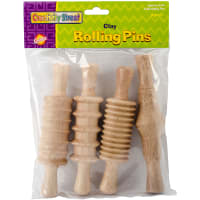 Modeling Clay Rolling Pins 4/Pkg