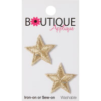 Blumenthal Iron-On Appliques-Gold Stars 2/Pkg
