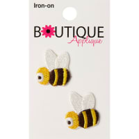 Blumenthal Iron-On Appliques-Bees 2/Pkg