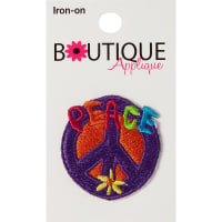 Blumenthal Iron-On Appliques-Peace Sign