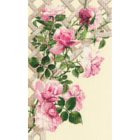 """RIOLIS Counted Cross Stitch Kit 13.75""""X21.75""""-Pink Roses (15 Count)"""