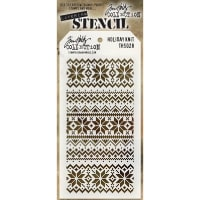 "Tim Holtz Layered Stencil 4.125""X8.5""-Holiday Knit"