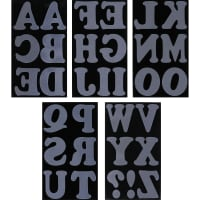 "Jolee's  Iron-On Letters 3""-Black"