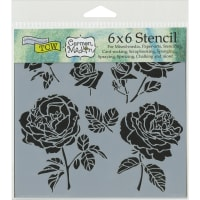 """Crafter's Workshop Template 6""""X6""""-Cabbage Roses"""