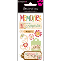SandyLion Essentials Dimensional Stickers-Memories