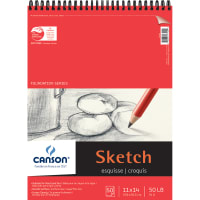 """Canson Foundation Series Spiral Sketch Paper Pad 11""""X14""""-50 Sheets"""