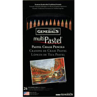 MultiPastel Pencils 24/Pkg-Assorted Colors