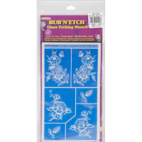 "Rub 'N' Etch Designer Stencil 5""X8""-Detailed Floral"