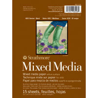 "Strathmore Mixed Media Vellum Paper Pad 6""X8""-15 Sheets"