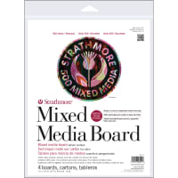 "Strathmore Mixed Media Boards 4/Pkg-11""X14"""