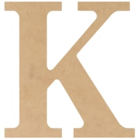 """MDF Classic Font Wood Letters & Numbers 9.5""""-K"""