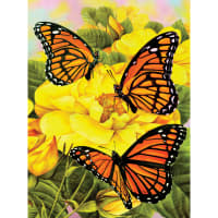 """Junior Small Paint By Number Kit 8.75""""X11.75""""-Majestic Monarchs"""