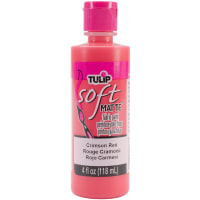 Tulip Soft Fabric Paint 4oz-Matte - Crimson Red