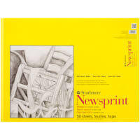 "Strathmore Smooth Newsprint Paper Pad 18""X24""-50 Sheets"