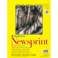 "Strathmore Rough Newsprint Paper Pad 9""X12""-50 Sheets"