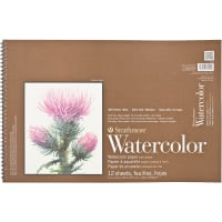"Strathmore Watercolor Paper Pad 12""X18""-140lb, Cold Press, 12 Sheets"