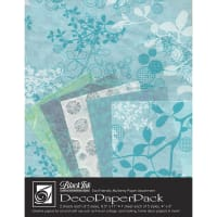 Deco Paper Pack By Black Ink Papers-Chinaberry Aqua