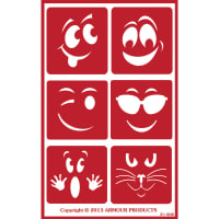 "Over 'N' Over Reusable Stencils 5""X8""-Wacky Faces"