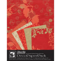 Deco Paper Pack By Black Ink Papers-Chinaberry Red