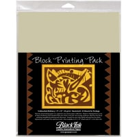 "Block Printing Paper Pack By Black Ink Papers-Natural 9""X12"" 25/Pkg"