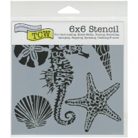 """Crafter's Workshop Template 6""""X6""""-Sea Creatures"""