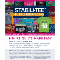 """Stabili-TEE Fusible Interfacing Pack 60""""X72""""-100% Polyester"""