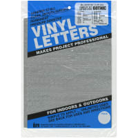 """Permanent Adhesive Vinyl Letters & Numbers .5"""" 852/Pkg-Silver"""