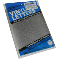 """Permanent Adhesive Vinyl Letters & Numbers 3"""" 160/Pkg-Silver"""