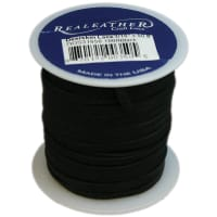 "Realeather Crafts Deerskin Lace .125""X50' Spool-Black"