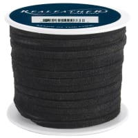 "Realeather Crafts Suede Lace .125""X25yd Spool-Black"