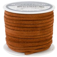 "Realeather Crafts Suede Lace .125""X25yd Spool-Medium Brown"