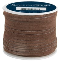 "Realeather Crafts Suede Lace .125""X25yd Spool-Cafe"