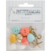 Buttons Galore Button Theme Pack-Beach Treasures