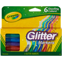 Crayola Glitter Markers-Dazzling Colors 6/Pkg