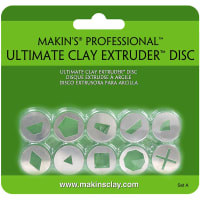 Makin's Professional Ultimate Clay Extruder Discs 10/Pkg-Set A