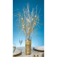 "David Tutera Lighted Branch Spray 30""-Gold"