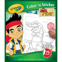 """Crayola Color & Sticker Book 10""""X8.5""""-Jake And The Never Land Pirates"""