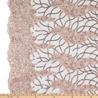 Corded  Tulle Embroidery Lace Blush Pink