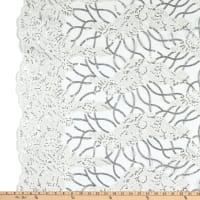 Corded Tulle Embroidery Lace White/Silver