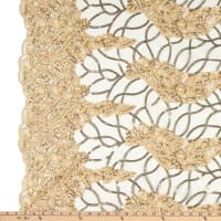 Corded Tulle Embroidery Lace Gold