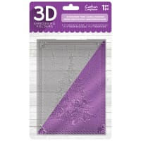 """Crafter's Companion 3D Embossing Folder 5""""X7""""-Evergreen Tree"""