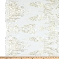 Tulle Multi Beaded Embroidery Ivory