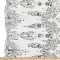 Tulle Multi Beaded Embroidery Silver