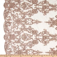 Beaded Embroidery Lace Blush Pink