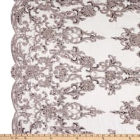 Beaded Embroidery Lace Lilac