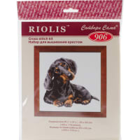"""RIOLIS Counted Cross Stitch Kit 9.75""""X9.75""""-Dachshund (15 Count)"""