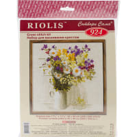"RIOLIS Counted Cross Stitch Kit 17.75""X17.75""-Wildflowers (15 Count)"