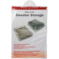 """Innovative Home Creations Sweater Storage Bags 2/Pkg-12""""X14""""X3"""""""